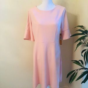 New ILE Pink Dress with Buttons on Sleeves